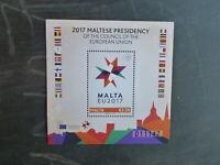 MALTA 2017 MALTESE PRESIDENCY OF THE EU MINT STAMP MINI SHEET MNH
