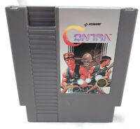 Contra Konami (Nintendo NES, 1988) Cartridge Only Cleaned Tested Works Great
