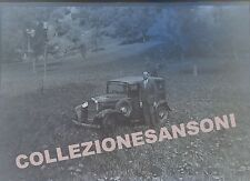 NEGATIVA FOTOGRAFICA 1920ca INCIDENTE DI  ANTICA AUTOMOBILE - C7-49