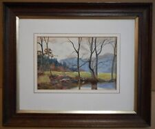 Llugwy at Betws-y-Coed. Watercolour by listed artist William Henry Howarth 1910