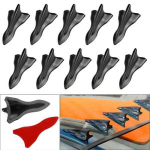 10x Vortex Generator Diffuser Shark Fin Wing Spoiler Roof Windshield Trim Kits