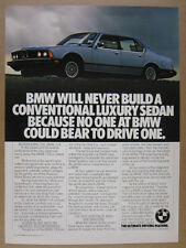 1978 BMW E23 7 Series 733i blue sedan photo vintage print Ad