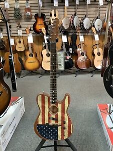 2020 Fender Limited Edition Acoustasonic Telecaster Guitar - American Flag