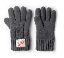 Scruffs Vintage Winter Chunky Thick Warm Lined Cable Knit Gloves Charcoal Grey
