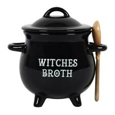 WITCHES BROTH CAULDRON SOUP BOTH WITH BROOM SPOON PERFECT GIFT