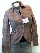 REPLAY COOL VESTE FEMME TAILLE S (36/38) Marron NEUF w7733