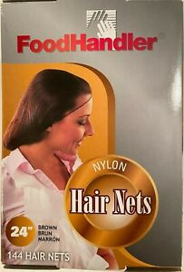 """144pc 24"""" inch Disposable Hair Net Bouffant Cap Kitchen Food Medical Non Woven"""