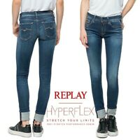 Jeans REPLAY pantaloni donna LUZ skinny fit HYPERFLEX aderente stretch WX689 661
