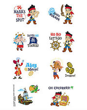 Jake and the Neverland Pirates Temporary Tattoos Kids Birthday Party Favour