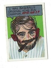 1967 Topps Who Am I? Babe Ruth #12 (unscartched) near mint