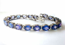 Tanzanite White Gold Fine Bracelets