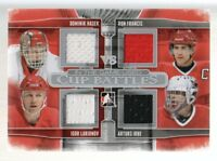 2013-14 ITG Used Cup Battles Quad Jersey #CB01 Hasek/Larionov/Ron Francis/Irbe