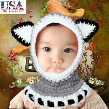 Lovely Winter Wool Knitted Fox Hats Girls Shawls Hooded Cowl Beanie Caps Hats