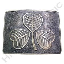 Scottish Highland Kilt Belt Buckle Irish Shamrock High Quality Antique Finish