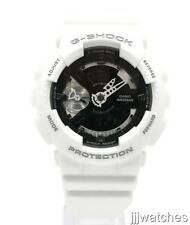 "Casio G-Shock ""S"" Series White Rubber Digi-Ana Women Watch 45mm GMAS110CW-7A1"