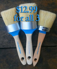 Chalk Furniture Paint Brushes 3 Brushes Sold as Seconds. Slightly Crooked Handle
