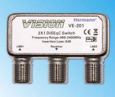DiSEqC Schalter 2x1 2/1 diseq HDTV deisik LNB Umschalter Switch