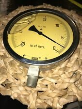 WIKA 316 SS HUGE!  VACUUM GAUGE 6 3/4 Inches Oil Filled