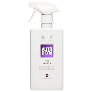 Autoglym Fast Glass Window Windscreen Cleaner Streak Free Car Clean Spray 500ml
