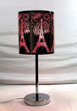 Metal Touch Lamp  Pink Eiffel Towe JYU94G