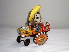 VINTAGE LOUIS MARX CO 1950 TIN WIND UP OLD MILTON BERLE E CAR CHARACTER TOY