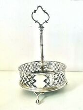 Antique George III - 1771 Solid Sterling Silver Cruet Stand - Edward Lowe - 306g