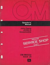 John Deere Jd295/S Snowmobile Operator'S Manual Om-M65224 Issue J3 (002)