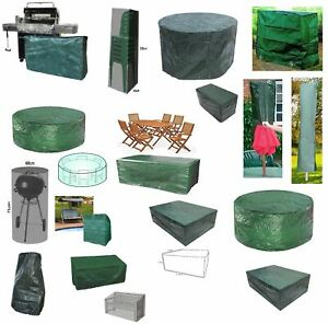 POLYETYLENE DIFFERENT SIZES WATERPROOF OUTDOOR BENCH TABLE BBQ COVER SET NEW