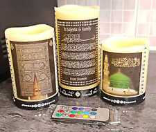 Arabic Calligraphy 3 in 1 LED Candle for Decor and Gift for Eid & other ocassion