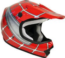 Motocross Helmet Red Blue Pink Black Spider Off Road Dirt Bike ATV Kids S M L XL