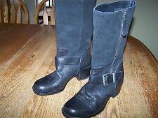 Franco Sarto sz 5.5M black dress or cowboy boots womens ladies leather suede 5.5