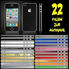 IPHONE 4S FOLIE SCHWARZ MATT ( BUMPER COVER HÜLLE SKIN SCHALE CASE )