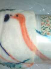NEW PINK FLAMINGO PLUSH SOFT THROW BLANKET  50 X 70 NEW FOR YOUR COASTAL HOME