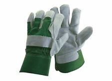 Briers Large Reinforced Rigger Gloves Green, DIY, Garden, Hand Safety Protection