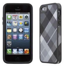 Speck Fabshell Case iPhone SE 5S 5 Cover MegaPlaid Black Grey