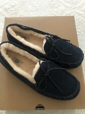 UGG Men's Olsen Suede Shearling Slippers Navy Blue Size 12 New