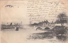 FONTENAY-SUR-LOING 10 le pont sur le loing et l'arbre de la liberté timbrée 1904
