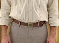 Indiana Jones Canvas Cotton Web Belt Brown or Khaki Brass Roller Buckle