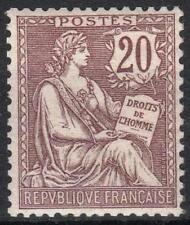 "FRANCE STAMP TIMBRE 126 "" MOUCHON 20c BRUN LILAS 1902 "" NEUF xx TTB  M036"