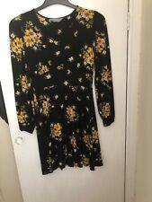 Dorothy Perkins Petite Skart Floral Vestido Talla 10