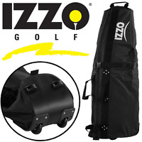 """""""50% OFF"""" IZZO GOLF DELUXE WHEELED PADDED GOLF BAG FLIGHT COVER TRAVEL COVER"""