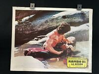 """1982- SILVESTER STALLONE-Rambo First Blood- Original Mexican Lobby Card 14""""x11"""""""