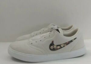 Nike SB Check Canvas VF GS Girls Shoes Size 6 Color: Pale Ivory/Black/Pink