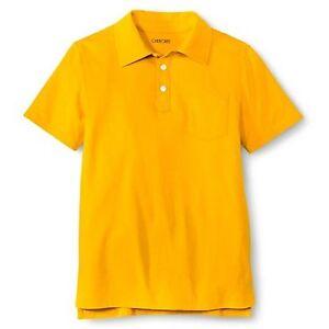 Cherokee Boys' Solid Polo Shirt Mustard Yellow Short Sleeve - Size Medium 8/10
