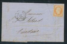 1857 Lettre N°16, 40c. jaune-orange Oblitéré Pointillés + CAD Paris P722