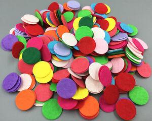 200PCS Die Cut Felt Circle Appliques Cardmaking decoration Mixed Colors 20mm