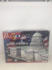 Puzz3D The Capitol 764 Piece 3D Puzzle Wrebbit 2004 Hasbro 04543