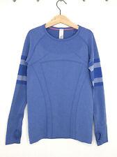 Ivivva by Lululemon Girl's Size 12 Blue Fly Tech Long Sleeve Shirt, Swiftly, EUC
