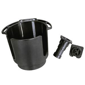 Scotty Drink Holder w/Rod Rest Post/Bulkhead/Gunnel Mount Black 0311-BK