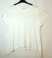 WHITE LADIES CASUAL TOP BLOUSE STRETCH SIZE 20 GEORGE LACE TRIM